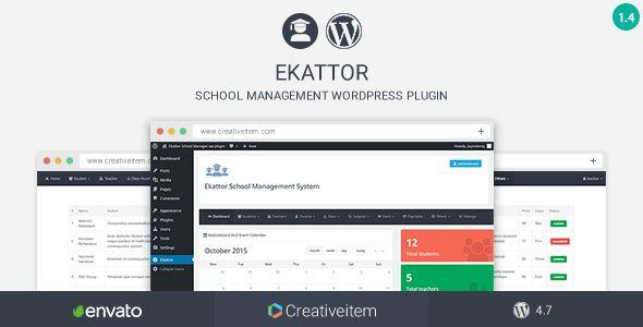 Ekattor School Manager Wordpress Plugin By Creativeitem Update