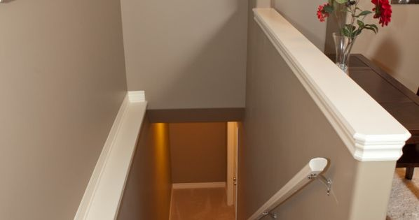 Capped Half Wall Home Pinterest Basement Stairs