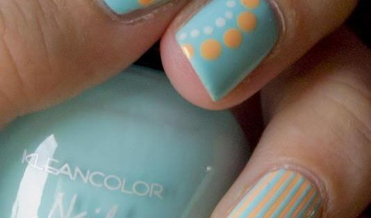 Polka dots and stripes nail art. I'd never have the ability to