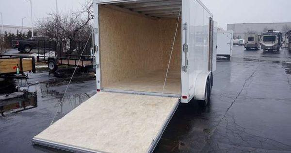 7 X 14 Aluminum Enclosed Cargo Trailer Polar White This