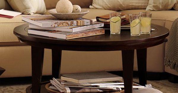metropolitan round coffee table pottery barn my style