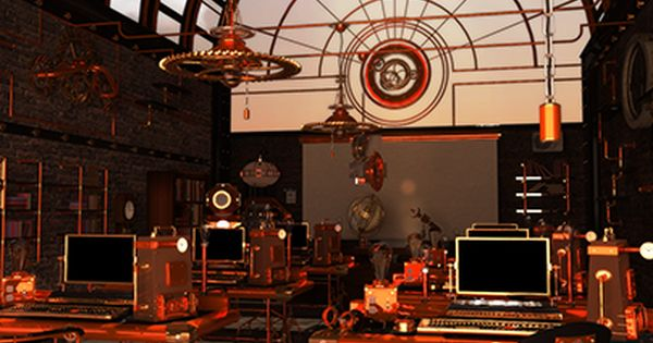 Check Out New Work On My Behance Portfolio Steampunk Classroom