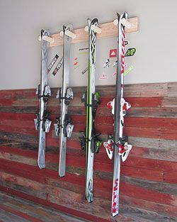 Alpine Wall Mounted Ski Storage Rack Two And Four Pair