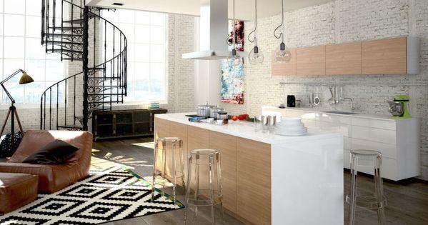 Salon cuisine ouverte 30m2 recherche google ambiance for Salon cuisine 30m2