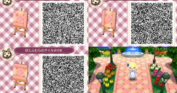 Qr Codes Acnl Pink Path Related Keywords Suggestions Qr Codes