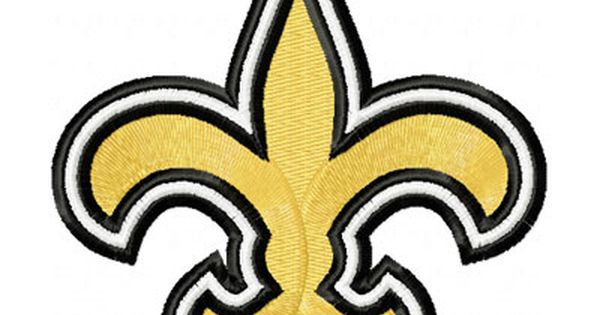 New Orleans Saints Logo Embroidery Design Embroidery