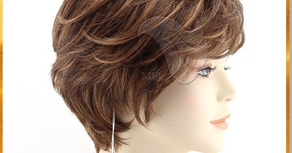 Hair Style Exports: China Factory Short Dark Brown Full Lace Human Hair Wigs