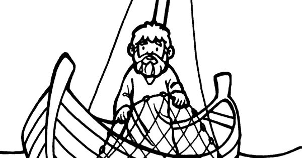 Fishing With Jesus Coloring Page Yahoo Image Search