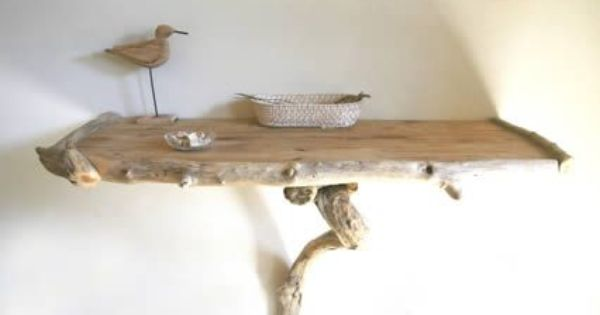 Bois flott tag re driftwood and decoration for Etagere bois flotte