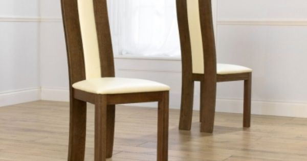 Mark Harris Havana Solid Dark Oak Dining Chair Cream Bycast Leather Seat Pair Brown Dining Chairs Oak Dining Chairs Furniture Dining Chairs