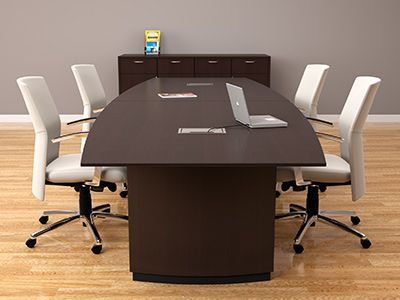 Enterprise 12 Boat Shape Wood Veneer Conference Table Furniture Conference Table Table