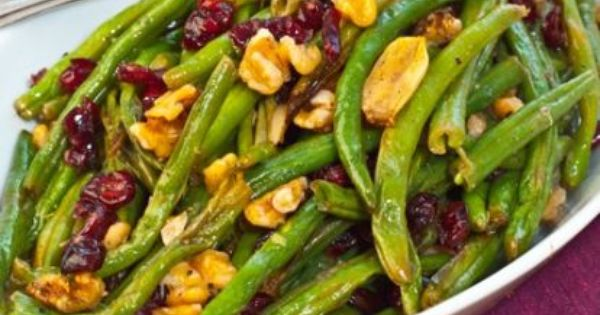 Roasted Green Beans with Cranberries and Walnuts: if you're wanting to amp
