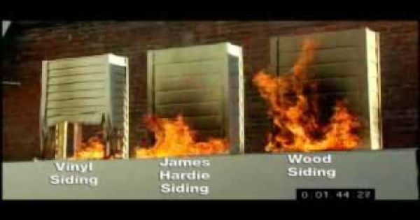 fire test see how james hardie siding compares to vinyl