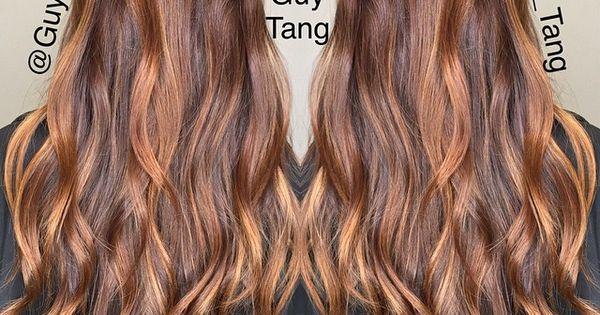 Auburn brunette highlights // guy_tang's photo on Instagram