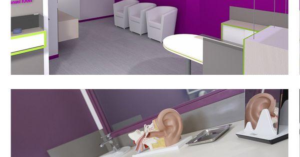 Amenagement D Interieur D Un Cabinet D Audioprothesiste Vue Du Cabinet En 3d A Destination Du Professionn Architecture Interieure Cabinet Architecte Interieur