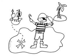 Pirate Island Colouring Page Pirate Coloring Pages Coloring