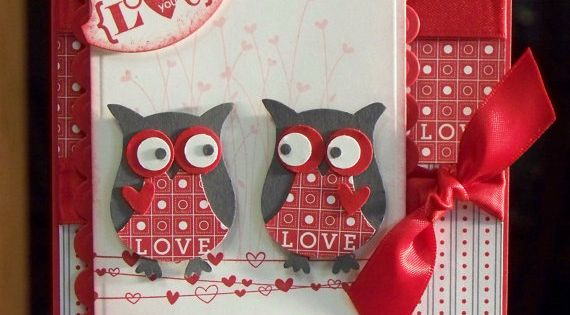 Handmade Valentines Day Card [Stampin' Up! Owl Punches]