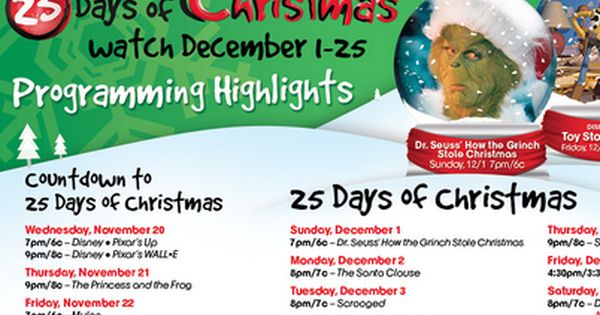 Upcoming 2014 Christmas Holiday Movies Abc Family Christmas Movies 25 Days Of Christmas Family Christmas Movies