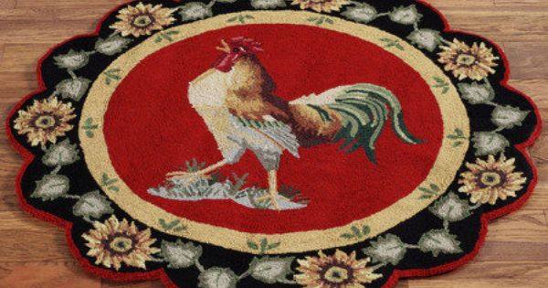 Barnyard Rooster Rugs Round Rugs And Rounding