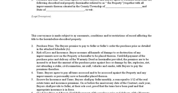printable contract for deed template 2015 sample forms 2015 pinterest real estate forms. Black Bedroom Furniture Sets. Home Design Ideas