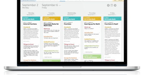 Collaborative Teaching Lesson Plans : Collaborative online lesson planner align to common core