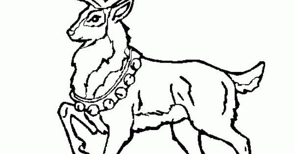 visit santas reindeer coloring pages - photo#28