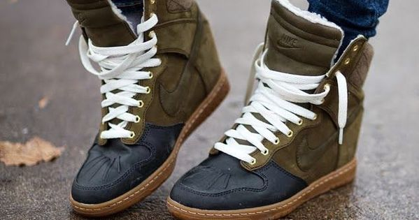 Nike Sky Hi Sneaker Boots. The things I would do for these...
