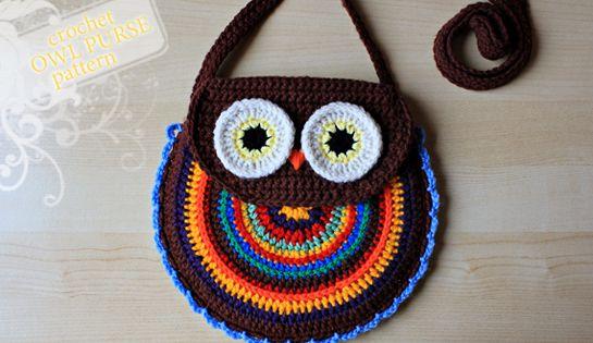 Crochet Pattern Crochet Owl Purse Pattern No. 005 by ZoomYummy, $4.99