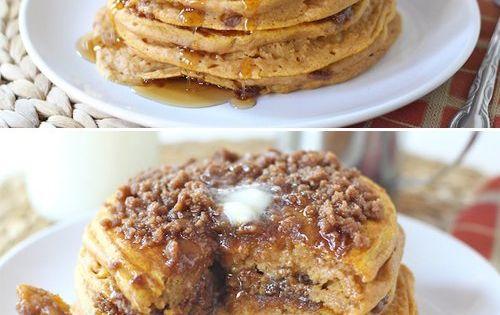 Pumpkin Cinnamon Streusel Pancakes | Eat Me...Sweet Treats | Pinterest ...