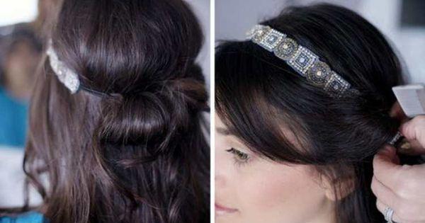anleitung f r eine elegante frisur mit haarband wiesn frisuren pinterest einfache elegante. Black Bedroom Furniture Sets. Home Design Ideas