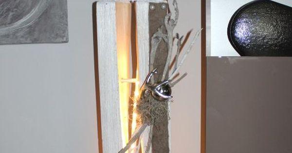 gs63 dekos ule f r innen und aussen zum beleuchten gro e gespaltene s ule wei gebeizt aus. Black Bedroom Furniture Sets. Home Design Ideas
