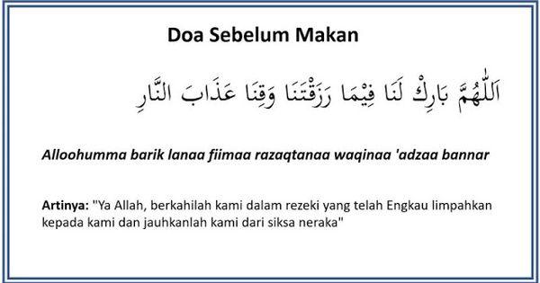 Doa Sebelum Makan Doa Tulisan Motivasi