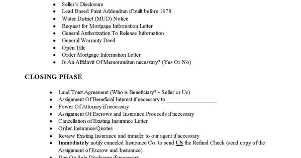 sample printable checklist for acquisitions 2 form printable real estate forms 2014. Black Bedroom Furniture Sets. Home Design Ideas