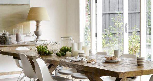 Design salle à manger de style campagne chic et rustique  Design ...