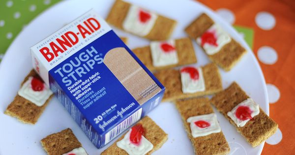Band-aids for Halloween party food-- with an ew factor! teen refreshments >>