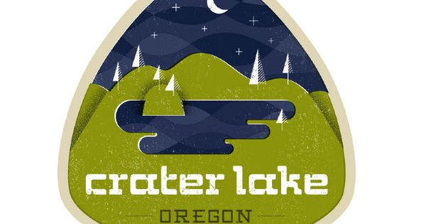 Crater Lake by Josh Balleza for Everywhere project. logo logolove