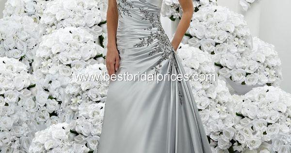 Platinum Silver Wedding Dress