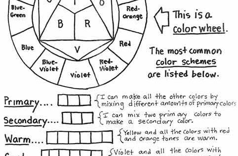 color theory worksheet click image to find more art. Black Bedroom Furniture Sets. Home Design Ideas