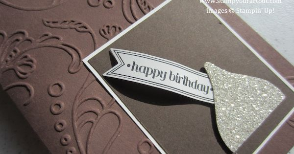 Birthday Card Kiss - made with SU Blossom Builder punch