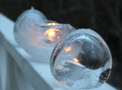 Frozen Water Balloon Ice Lanterns