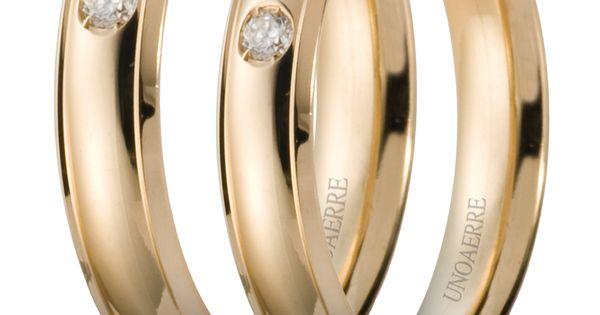 Fedi Unoaerre con diamanti www.fasologioielli.com  Fedi e Fedine ...