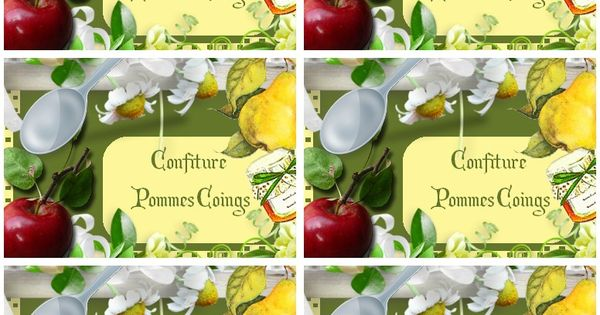 Etiquettes pour confiture pommes coings carterie bilitis - Comment utiliser le romarin en cuisine ...