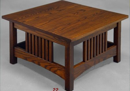 Square Mission Style Coffee Table For The Home