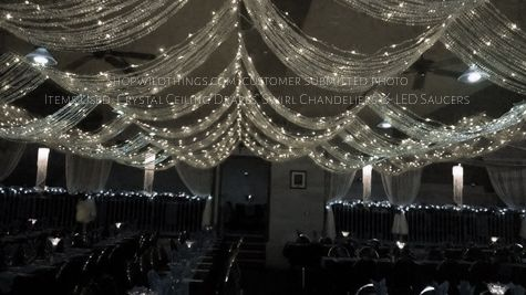 Crystal Ceiling Curtains For Weddings Crystal Drapes Wedding Ceiling Decorations Hanging Ceiling Lights Wedding Ceiling