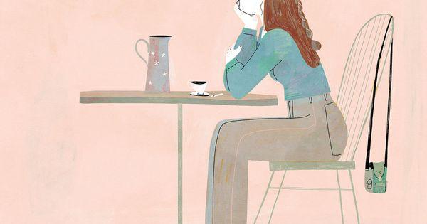 Illustration Heloise Solt Illustration Cafe Terrasse