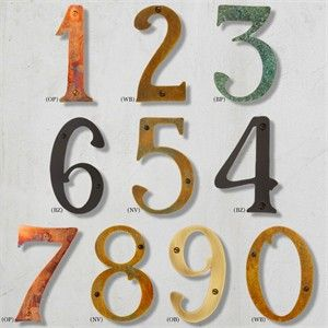 Solid Brass House Number House Numbers Custom Plaques Craftsman House Numbers