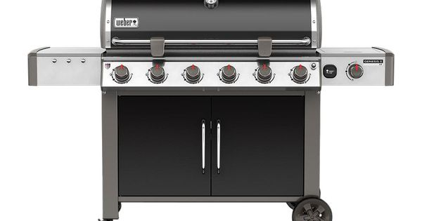 Weber Genesis Ii Lx E 640 6 Burner Natural Gas Grill In Black With Built In Thermometer And Grill Light Weber Gas Grills Propane Gas Grill Best Gas Grills