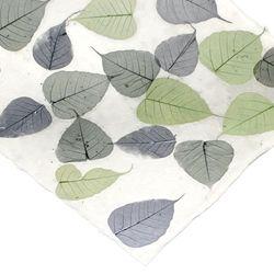 Loktapaper Bodhi Leaf dark red silver wrapping paper handicraft paper book binding