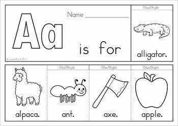 Alphabet Flip Books   English worksheets for kids, Alphabet ...