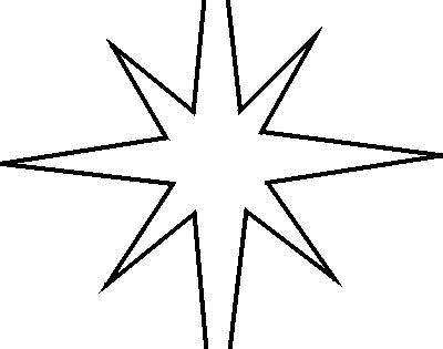Star stencil, Christmas stars and Stencils on Pinterest